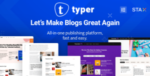 Read more about the article Typer – Amazing Blog Elementor WordPress Theme