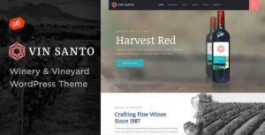 Vin Santo – Winery & Vineyard WordPress Elementor Theme