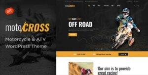 motoCROSS – Motorcycle & ATV WordPress Elementor Theme