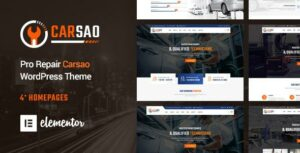 Carsao – Responsive Car Service WordPress Elementor  Theme