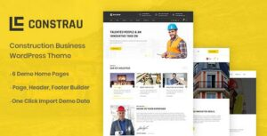Constrau – Construction Business WordPress Theme