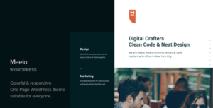 Meelo – Corporate One Page WordPress Theme