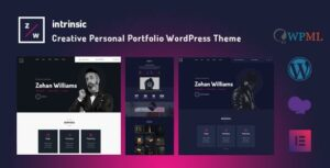 Intrinsic – Creative Personal Portfolio Elementor WordPress Theme