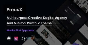 PreusX – Digital Agency And Portfolio WordPress Theme