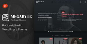 Megabyte – Podcast/Audio WordPress Theme