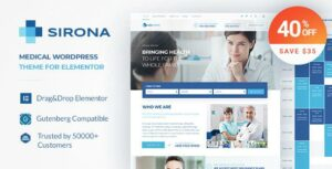 Sirona – Health and Medical Clinic Elementor WordPress Theme