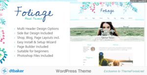 Foliage Watercolor – Creative WordPress Theme
