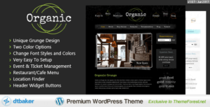 Organic Grunge – WordPress Cafe & Restaurant Theme