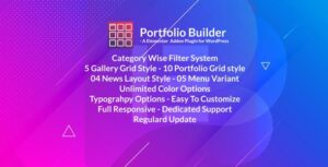 Portfolio – Grid masonry portfolio filter plugin for Elementor Page Builder