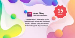 News Post Sliders News Post Grid Builder Addon – Elementor WordPress