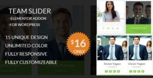 Read more about the article Team Slider – Team Member Showcase Elementor addon – For WordPress