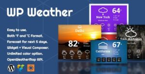 WP Weather – WordPress Weather Plugin for WordPress Widget, Elementor and WPBakery Page Builder