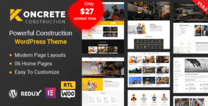 Koncrete – Construction Building WordPress Theme