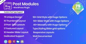 Posts Modules – Responsive WordPress plugin