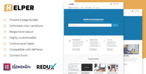 Helper – Knowledge Base / Support WordPress Theme