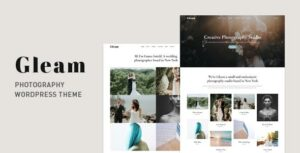 Gleam – Portfolio Photography Elementor WordPress Theme