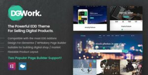 DGWork – Responsive Digital Shop & Market Easy Digital Downloads Theme