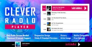 Read more about the article CLEVER – HTML5 Radio Player With History – Shoutcast and Icecast – WordPress Plugin
