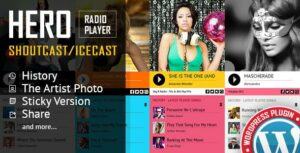 Hero – Shoutcast and Icecast Radio Player With History – WordPress Plugin