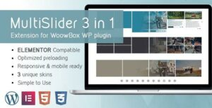 Multi Slider Gallery 2.1 Extention for WoowBox Elementor Plugin