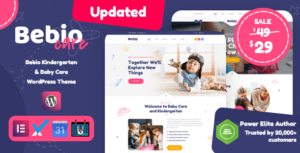 Bebio – Kindergarten & Baby Care WordPress Theme