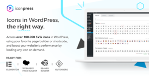 IconPress Pro – Icon Management for WordPress