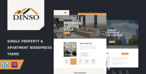 Dinso – Single Property & Apartment WordPress Theme
