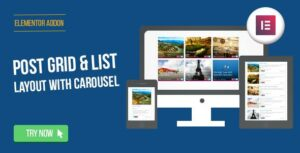 Elementor Page Builder – Post Grid/List Layout with Carousel