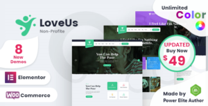 Loveus – NonProfit Charity WordPress Theme