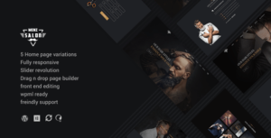 MenzSalon – Barber & Salon WordPress Theme