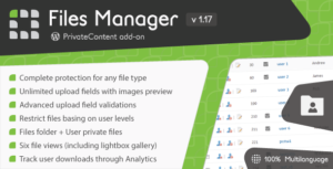 PrivateContent – Files Manager add-on
