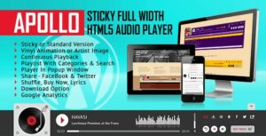 Apollo – Sticky Full Width HTML5 Audio Player – WordPress Plugin