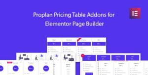 Proplan – Pricing Table Addons for Elementor Addon