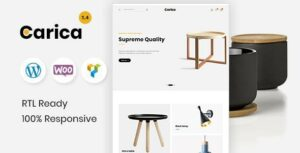 Carica – Furniture Handmade Shop WooCommerce Theme