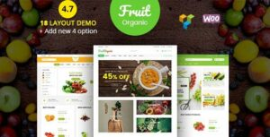 Fruit Shop – Organic Farm Food Responsive WooCommerce Elementor WordPress Theme