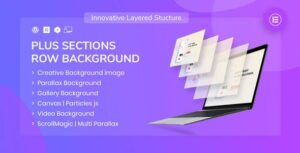 PlusSections – Ultimate Parallax | Video | Particles Row Background for Elementor