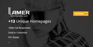 Lamer Fashion – WooCommerce Elementor WordPress Theme