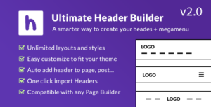 Ultimate Header Builder – Header & MegaMenu Builder for WordPress