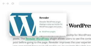 Revealer – Navigation popup for WordPress links