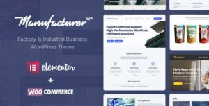 Manufacturer – Factory and Industrial WordPress Theme