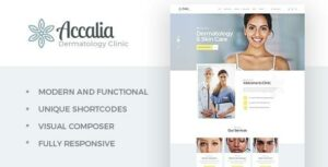 Accalia | Dermatology Clinic & Cosmetology Center Medical WordPress Theme