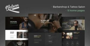 Nelson – Barbershop Hairdresser & Tattoo Salon WordPress Theme