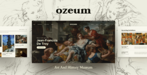 Ozeum | Art Gallery and Museum WordPress Theme