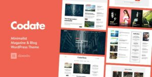 Codate – Modern Magazine and Blog theme