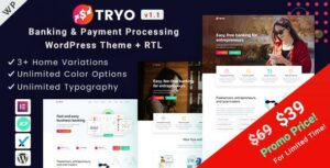 Tryo – Banking & Payment WordPress Theme