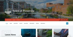 Pressville – Unique WordPress Theme for Municipalities