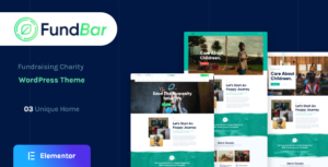FundBar – Fundraising Charity Theme