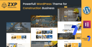 ZXP – Construction Building Company WordPress Theme