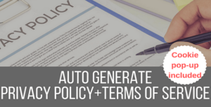 Legalize – Privacy Policy / Terms of Service Generator and EU Cookie Law Popup Plugin for WordPress