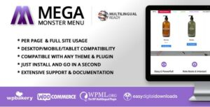 Mega Menu Monster – WordPress Mega Menu Plugin